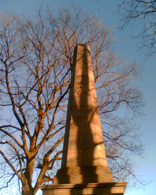 Obelisk im schwarzen Netz